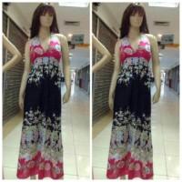 Longdress pantai/baju dress panjang/gaun panjang korea