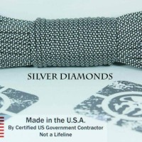 paracord 550 silver diamonds