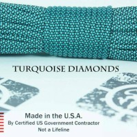 paracord 550 turquoise diamonds