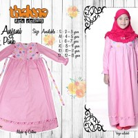 Dress ANJANI Pink (Plus Jilbab), Size S M L XL, Thaluna Kids, Murah,