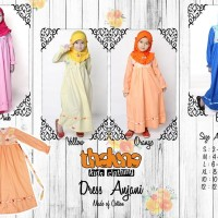 Dress ANJANI Plus Jilbab, Size S-XL, Thaluna Kids, Murah, Berkualitas