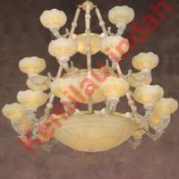 harga LAMPU HIAS PLAFON GANTUNG SCH-9050-12+8+4 BOHLAM LED FITTING E27 ANTIK Tokopedia.com