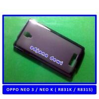 Silikon Case Oppo Neo K 3 R831k R831s Hitam Transparant