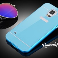 Samsung S5 - Metal Bumper Aluminium Back Cover Case iPhone 6 Style