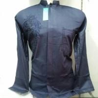 Baju Koko Gaul Panjang Biru baju koko uje baju muslim pria murah