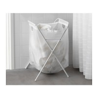 harga IKEA JALL, tas binatu/laundri dengan berdiri, putih Tokopedia.com