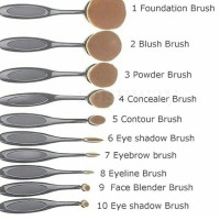 Jual BRUSH OVAL SET ISI 10PCS Murah