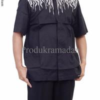 Baju Muslim Koko Albatar Lengan Pendek Bordir Warn XDMP