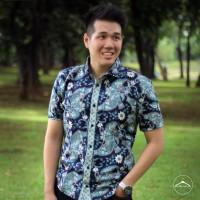 harga Slimfit Neat Batik - Dark Blue Papua Pattern Shirt Tokopedia.com