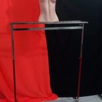 Gantungan baju, gawangan pipa kotak dengan Rak ram kawat