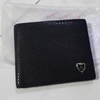 Baellerry Dompet Pria Genuine Leather Dot Pattern