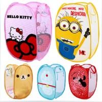 Keranjang Baju Kotor Bag Hello Kitty Doraemon Minion Minnie Rilakkuma