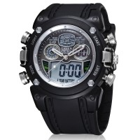 Ohsen Waterproof Quartz Digital Sport Watch - AD0721-1 - Black