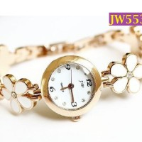 Jam Tangan Wanita Motif Gelang Bunga Melati Analog Quartz - JW553