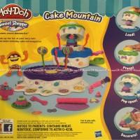 Play-doh cake mountain kue tart membuat kue ulang tahun Playdoh ORI