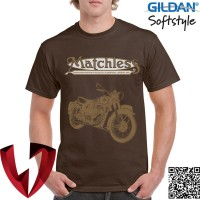 Kaos Vintage Bikers - Motor Klasik Matchless 1 - Original Gildan