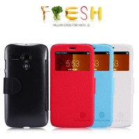 Nillkin Fresh Leather Case Flip Cover Motorola Moto G - 100% Original