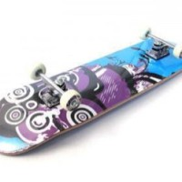 Skateboard / Skatebord Maple Satelite Blue Grafiti