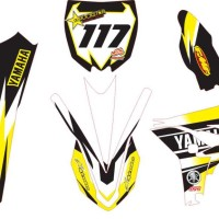 Modifikasi Stiker TRAIL YAMAHA yz 250 trail Spec B