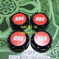 harga dop center / velg bbs hitam merah model racing kaki 6,3 cm (Set=4bh) Tokopedia.com
