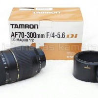 harga LENSA TELE ZOOM TAMRON AF 70-300 mm f/4-5.6 LD 1:2 MACRO CANON / NIKON Tokopedia.com