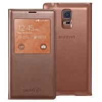 harga Samsung S View Cover for Samsung Galaxy S5 Original - Gold Tokopedia.com