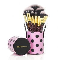 BH Cosmetics - 11 pcs Pink-A-Dot Brush Set