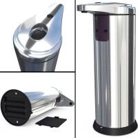 Stainless Steel Sensor Automatic Soap Dispenser - Silver