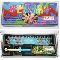 Jual DIY Rainbow Loom Bands Colorful Gelang Karet Handmade Kotak Box Biru Murah
