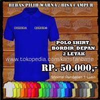 Jual Polo Shirt Bordir / Poloshirt Seragam Kantor & Sekolah / Kaos berkerah Murah