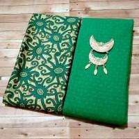 harga Batik Kenanga Hijau / Kain Emboss / bahan dress / kebaya kutubaru Tokopedia.com