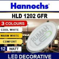 Hannochs LED Downlight 3 Warna 12 Watt