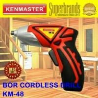 Mesin Bor Tangan Tanpa Kabel Portable KENMASTER Bor Cordless Drill