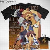 Kaos Anime Digimon Wargreymon Full Graphic T-Shirt