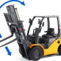 Miniatur Forklift alat berat pengangkut barang diecast