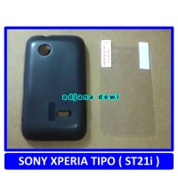 Silikon Sony Xperia Tipo ST21I Soft Case Hitam + Gratis Anti Gores