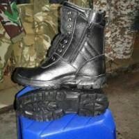 Sepatu PDL Safety TNI Kulit Jeruk