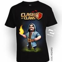 Baju Kaos 3D COC Wizard DEWASA LENGAN PANJANG by Square, Katun Combed