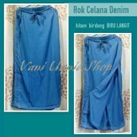 Rok Celana Muslimah Denim ukuran S,M,L