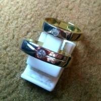 Cincin Kawin / Couple Emas & Perak Berlian