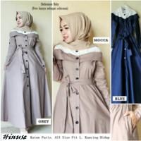 baju muslim gamis wanita maxi long dress hijaber - Hinuse Maxy Dress