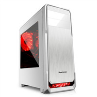 SEGOTEP GAMING CASE THE WIND White Silver Side Window 12CM Led F