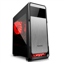 SEGOTEP GAMING CASE THE WIND Black Silver- Side Window 12CM Led Fa