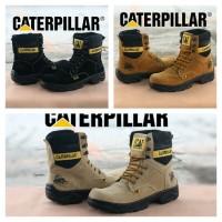 sepatu tracking caterpillar safety lapangan kantor formal boot kulit