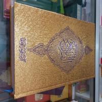 Alquran Cover Emas ukuran A5, Al-Quran Mushaf Tanggung