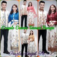 Couple GAMIS HIJAB Muslimah Batik TAMAN BUNGA