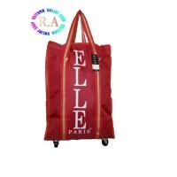 harga TAS BELANJA TROLLEY ELLE PARIS MERAH CABAI/SHOPPING BAG ELLE Tokopedia.com