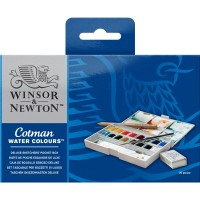 Winsor Newton Cotman Deluxe Sketchers Pocket Box (16) + FREE Paper