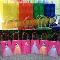 Gable Box / Paper Bag / Tas Souvenir / Favor Box - Lego / Princess