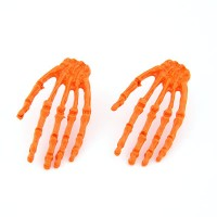 Neon Skull Paw Earrings Orange / Anting Tengkorak Neon / Anting Gothic